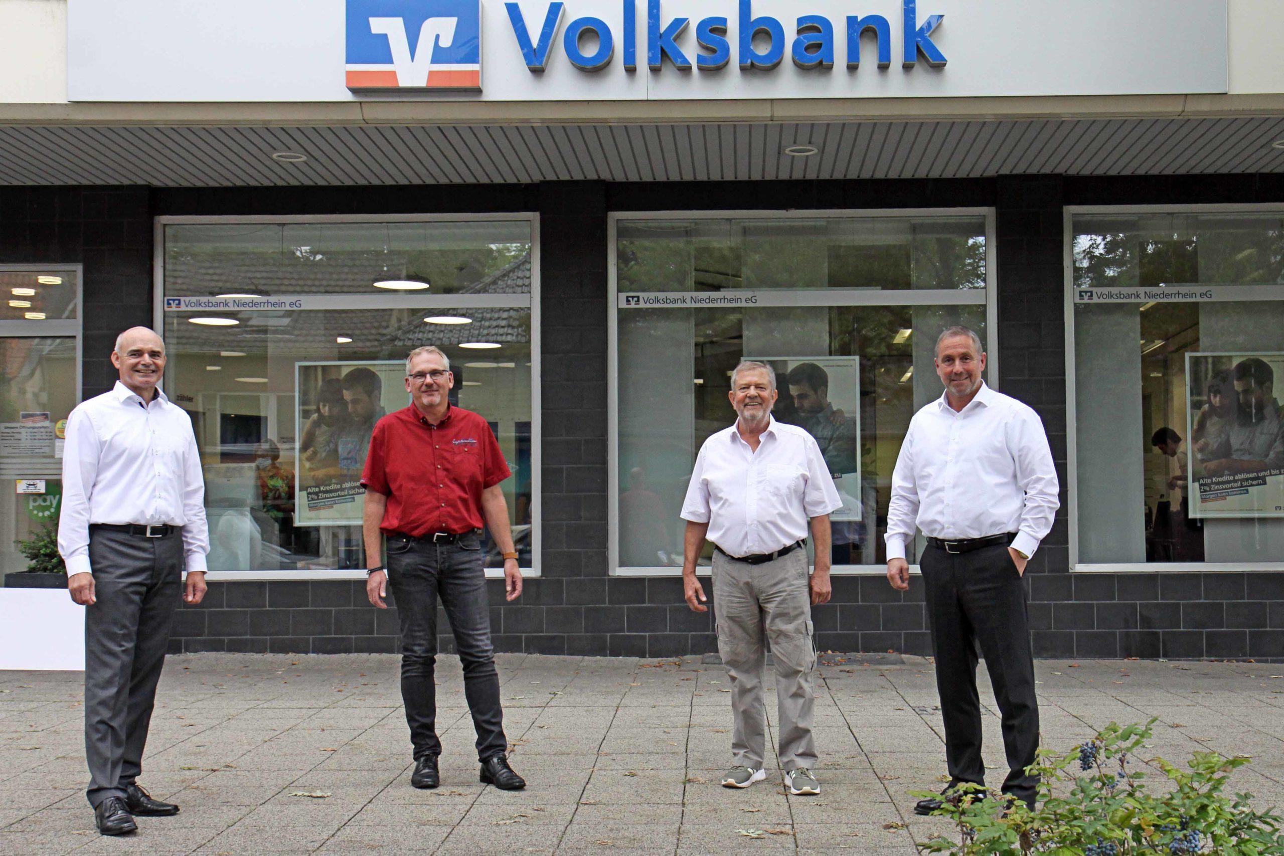 Volksbank Niederrhein spendet Startkapital