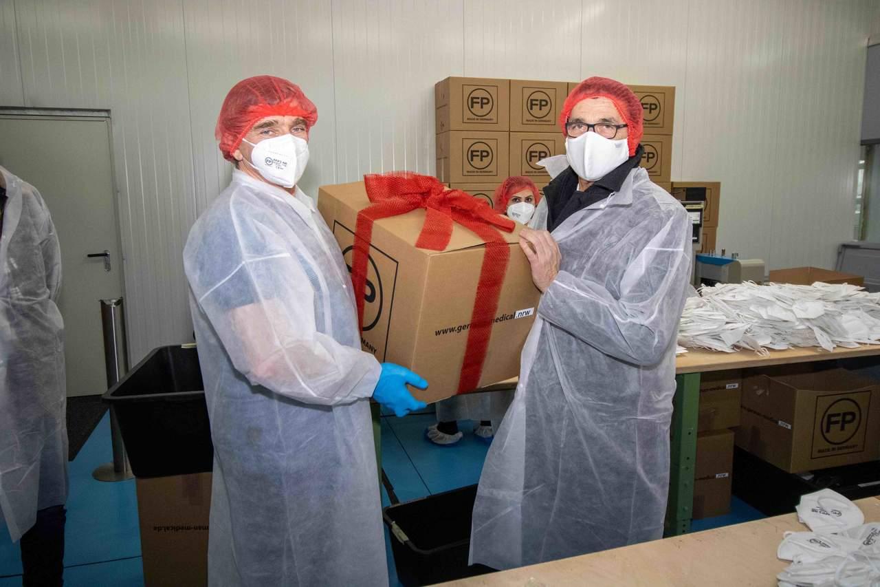 FFP-Schutzmasken hergestellt in Kamp-Lintfort