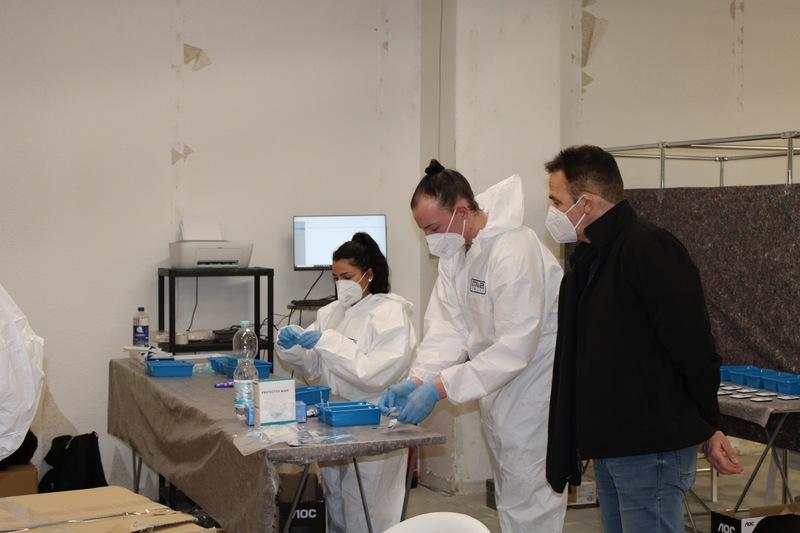 Neues Corona-Testzentrum in Kamp-Lintfort